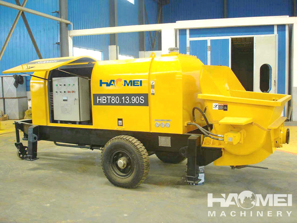 HBT80 Automatic anti-pump trailer concrete pump